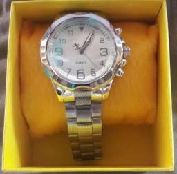 Relógio Quartz de aço Prata
