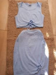 Conjunto gringo azul bebê