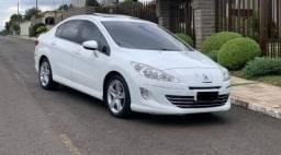 Carro Sedan Peugeot 408 Griffe mais Completo com Teto Solar