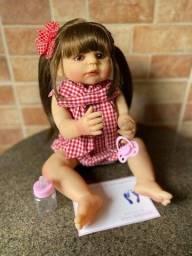 Boneca bebê Reborn toda em Silicone realista Nova Original 55cm (aceito cartão )