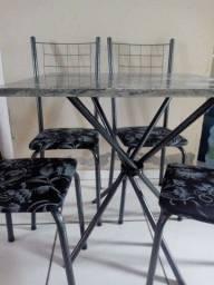 Título do anúncio: CJ.Mesa Dany 4 Cadeiras Preta