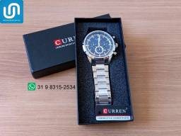 Relógio Masculino Curren Original Pulseira em Aço Inoxidável