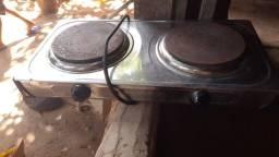 Fogão elétrico 100 fritadeira elétrica 200