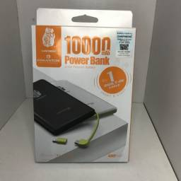 Carregador Pineng Power Bank Original Slim PN-951 10000mAh Branco.<br><br>