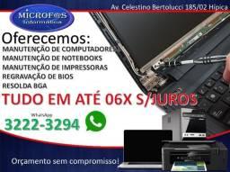 Título do anúncio: Conserto de Notebook Computador Impressora