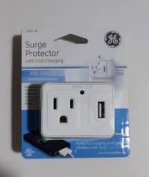 Filtro de linha General Eletric com entrada USB (Novo)