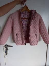 Jaqueta infantil feminina c/capuz