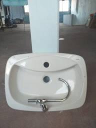 Cuba de banheiro Incepa Telma + torneira (NOVA)