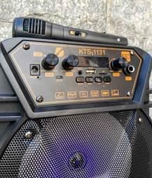 Caixa de som KTS 1131 com controle e microfone ??