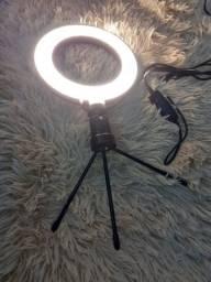Ring Light 6 Polegadas com tripé de Mesa e Suporte de Celular