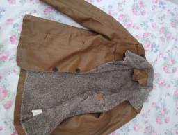 Casaco de couro importado