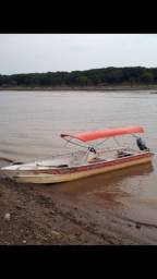 Canoa + motor 15 yamaha 12mil