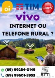 Título do anúncio: INTERNET OU TELEFONE RURAL