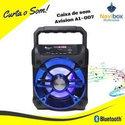 Caixa de Som Bluetooth | FM Pendrive Cartão Memória