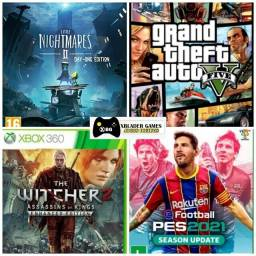 Pes 21, Gta 5, Little Nightmares e The Witcher