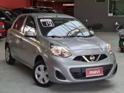 Nissan March 2019 1.0 12V S (FLEX) completo baixa km e novissímo