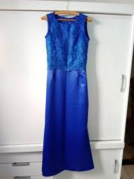 Vestido para festa azul zap *