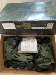 PATINS INLINE FREESTYLE TRAXART GREEN - 80MM ABEC-9 CROMO
