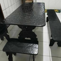 Mesa de ardósia de 140x75 cm pronta entrega