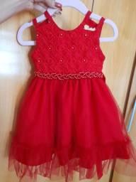 Vestido de festa tamanho 1 ano