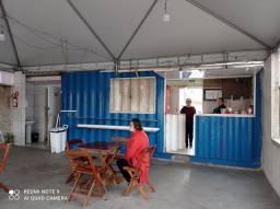 Container Naval + Tenda + Acessórios para restaurante + Mesas e cadeiras