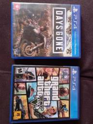 GTA V e Days Gone PS4