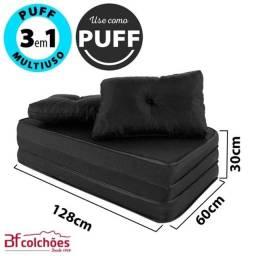 Puff Multiuso Casal 3 Em 1 + Travesseiro Semi Novo (Parcela no Cartão) (Colchão de Casal)