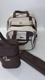 Título do anúncio: Conjunto de bolsas com porta mamadeira térmico e trocador