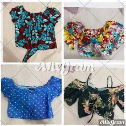 Título do anúncio: Lote de roupas femininas com 14 peças