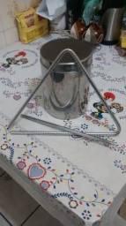 Triângulo 10mm Ferro Cromado (forró)