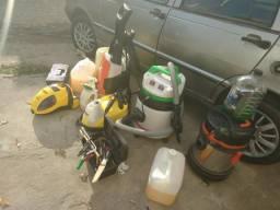 Vendo materiais de lavagem a seco