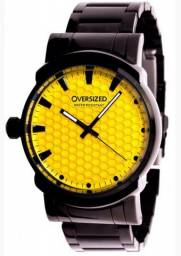 Relógio oversized dark yellow Knockout 45mm Bastante Conservado