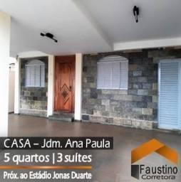 Casarão duplex com 05 quartos (03 suítes) no Jardim Ana Paula