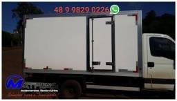 Baú frigorifico furgão carroceria refrigerada Mathias Implementos