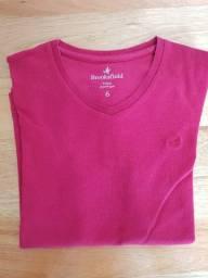 Camiseta Brooksfield Vermelha Original Tamanho 6