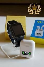 Relógio smartwatch A1 + FONE DE OUVIDO BLUETOOTH