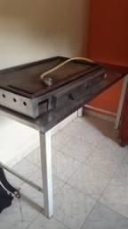 Chapa lanches mesa de inox e fogão industrial