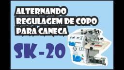Máquina Serigráfica Sk 20 Para Impressão Em Copos Canecas