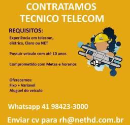 Técnico Telecom para Ponta Grossa