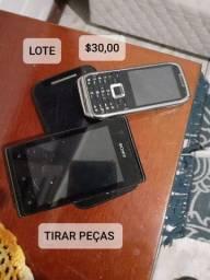 Lote de celular pra tirar peças