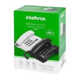Telefone com Fio Intelbras Pleno sem chave Preto -porduto novo com garantia e nf