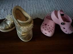 Tênis Klin 22 + crocs 21/22