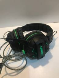 Headset gamer Warrior com led semi novo