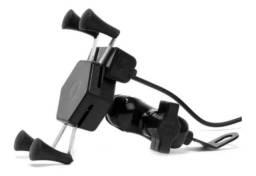 Suporte De Celular Com Carregador Universal Para Moto<br><br>