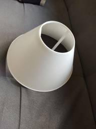 Cúpula de abajur pequena plástico