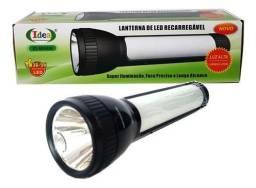 Lanterna de Led com emergência na lateral recarregável