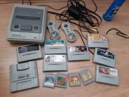 Nintendo Super Famicon com jogos e adaptador Game Boy