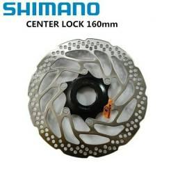 Par disco rotor shimano center lock 160mm + Brinde