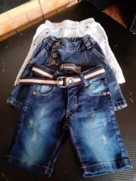 Bermuda Jeans Infantil - Tam. 12 - 3 Pares
