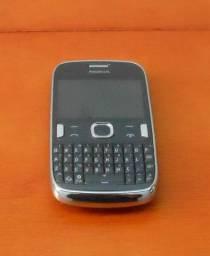 Celular Antigo Nokia Cinza Com Cromado